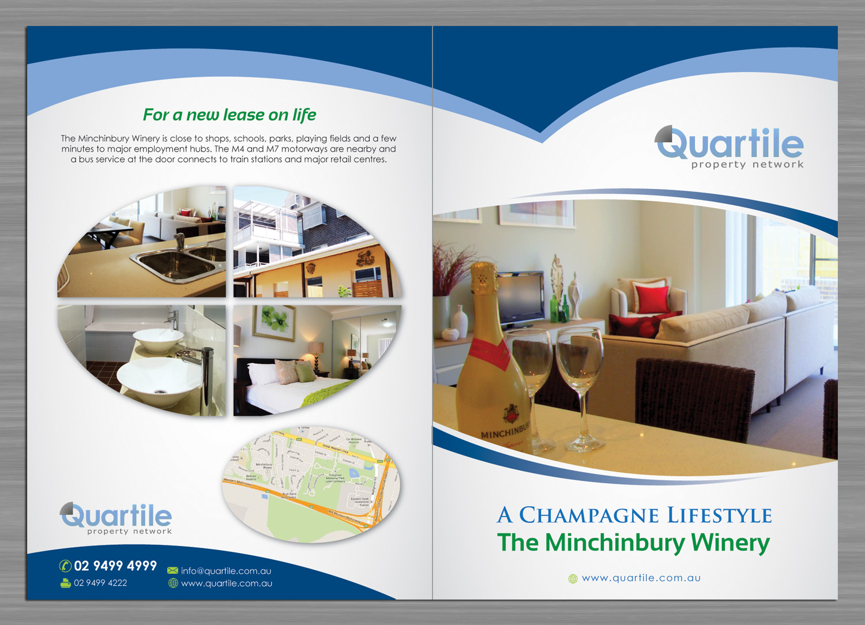 Upmarket Property Development Brochures : Elegant upmarket real estate brochure design for a