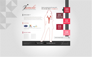 Web Design job – Elegant web design for female software programmer – Winning design by TechWise