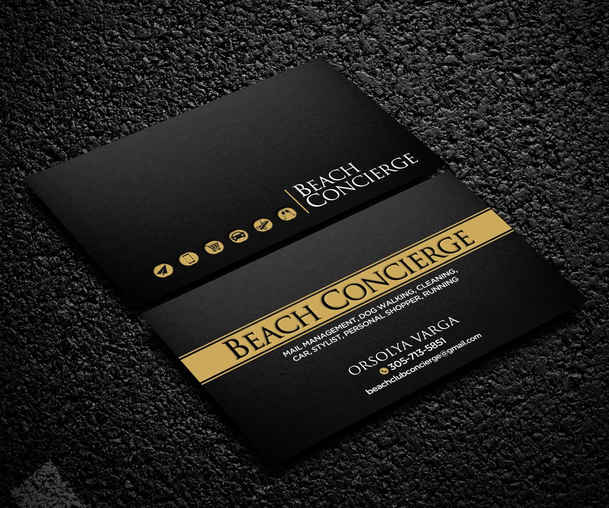 Elegant, Professional, Business Business Card Design for Beach ...