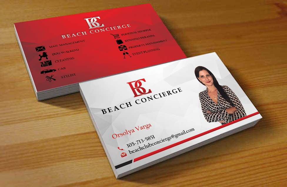 Elegant, Professional Business Card Design for Beach Concierge by ...