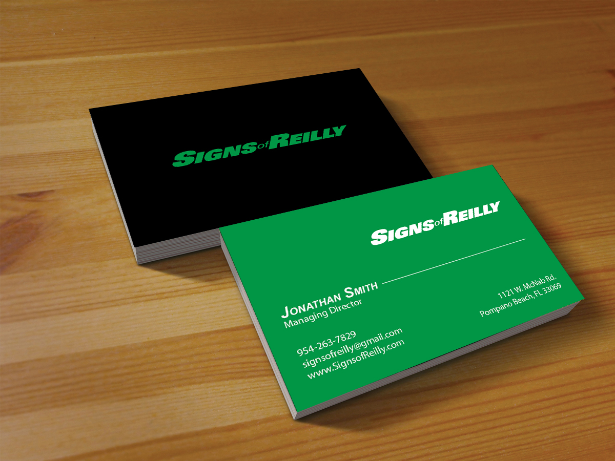 Serious, Professional, Business Business Card Design for Signs of ...