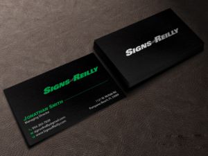 Dark business card designs 224 dark business cards to browse signs of reilly business card design business card design by creations box 2015 colourmoves