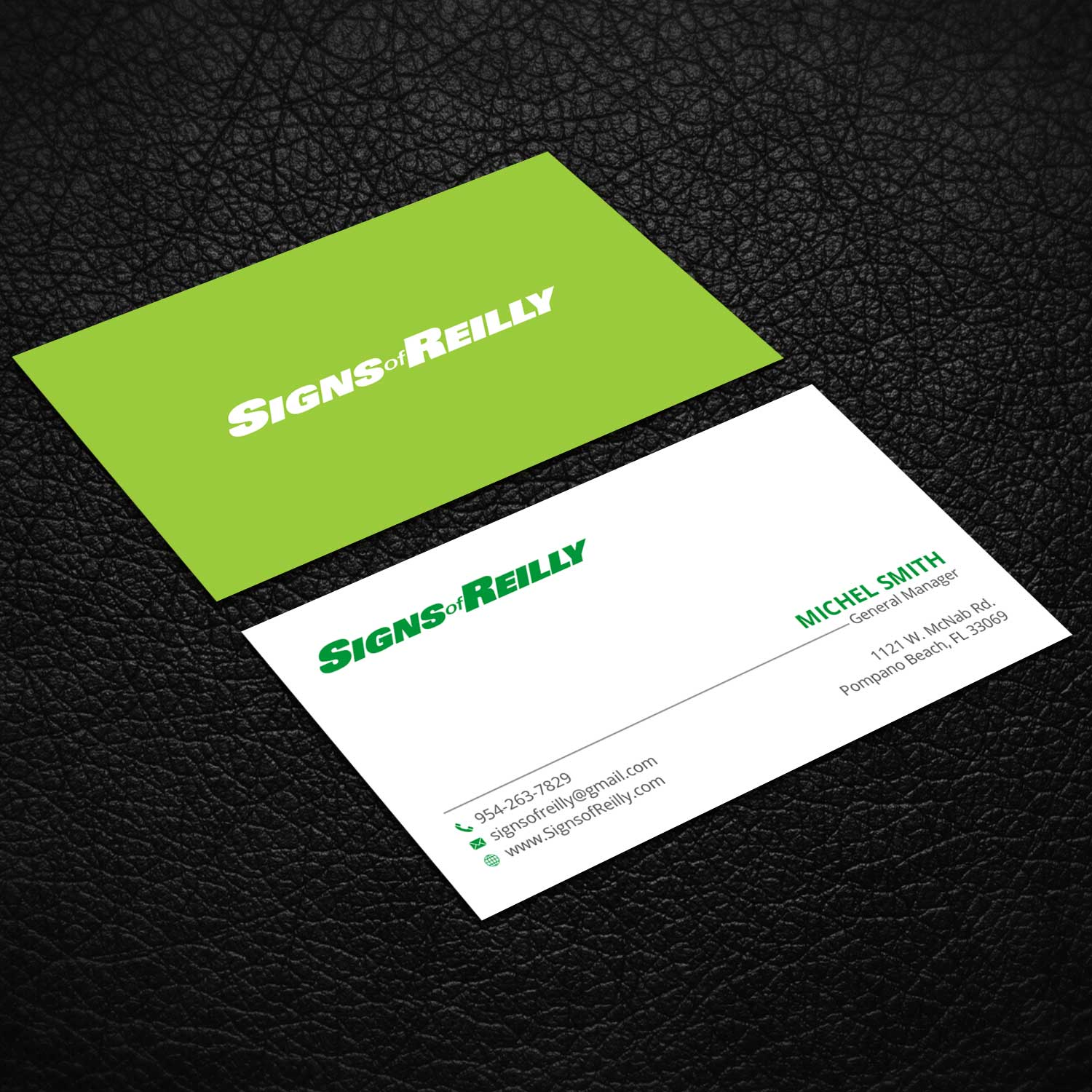 Serious professional business business card design for signs of business card design by rightd for signs of reilly design 16693590 colourmoves