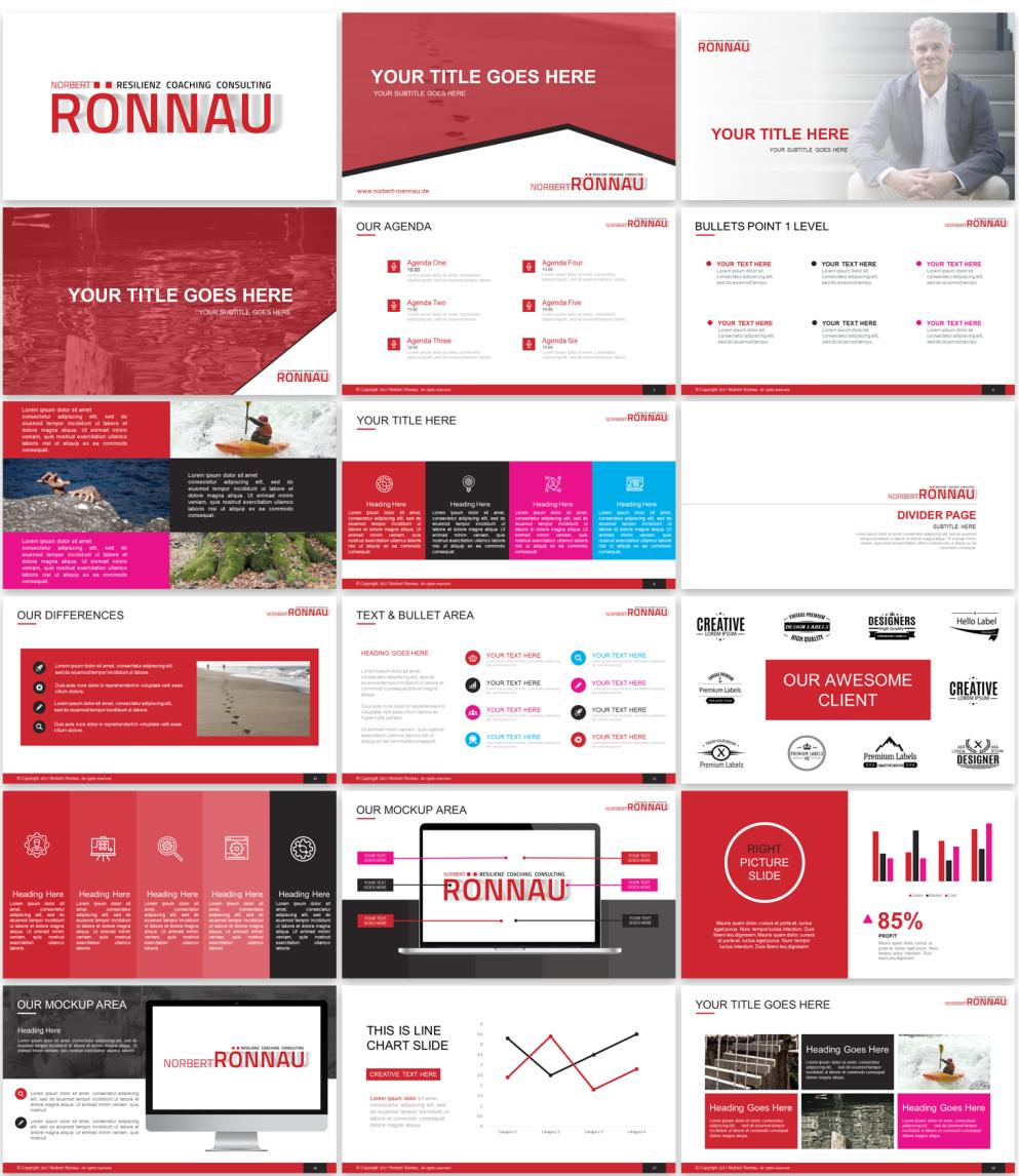 Design De Powerpoint élégant Moderne Pour Resilienz
