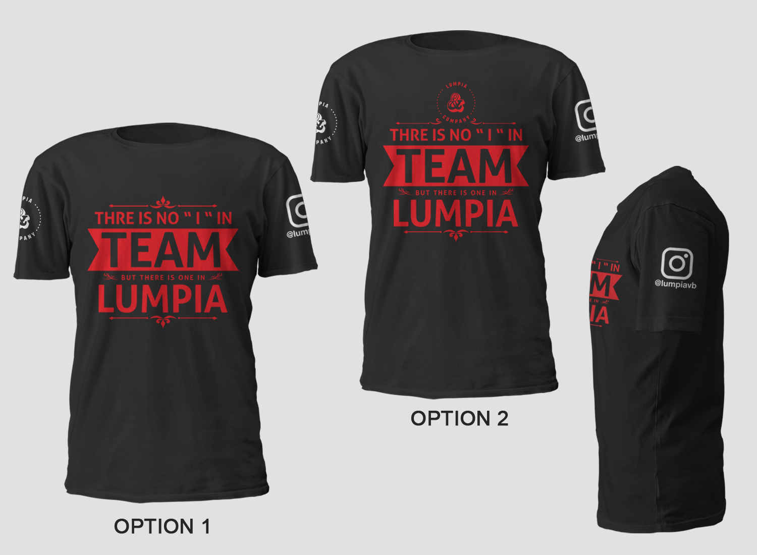Serious Modern Filipino Restaurant T Shirt Design For Lumpia