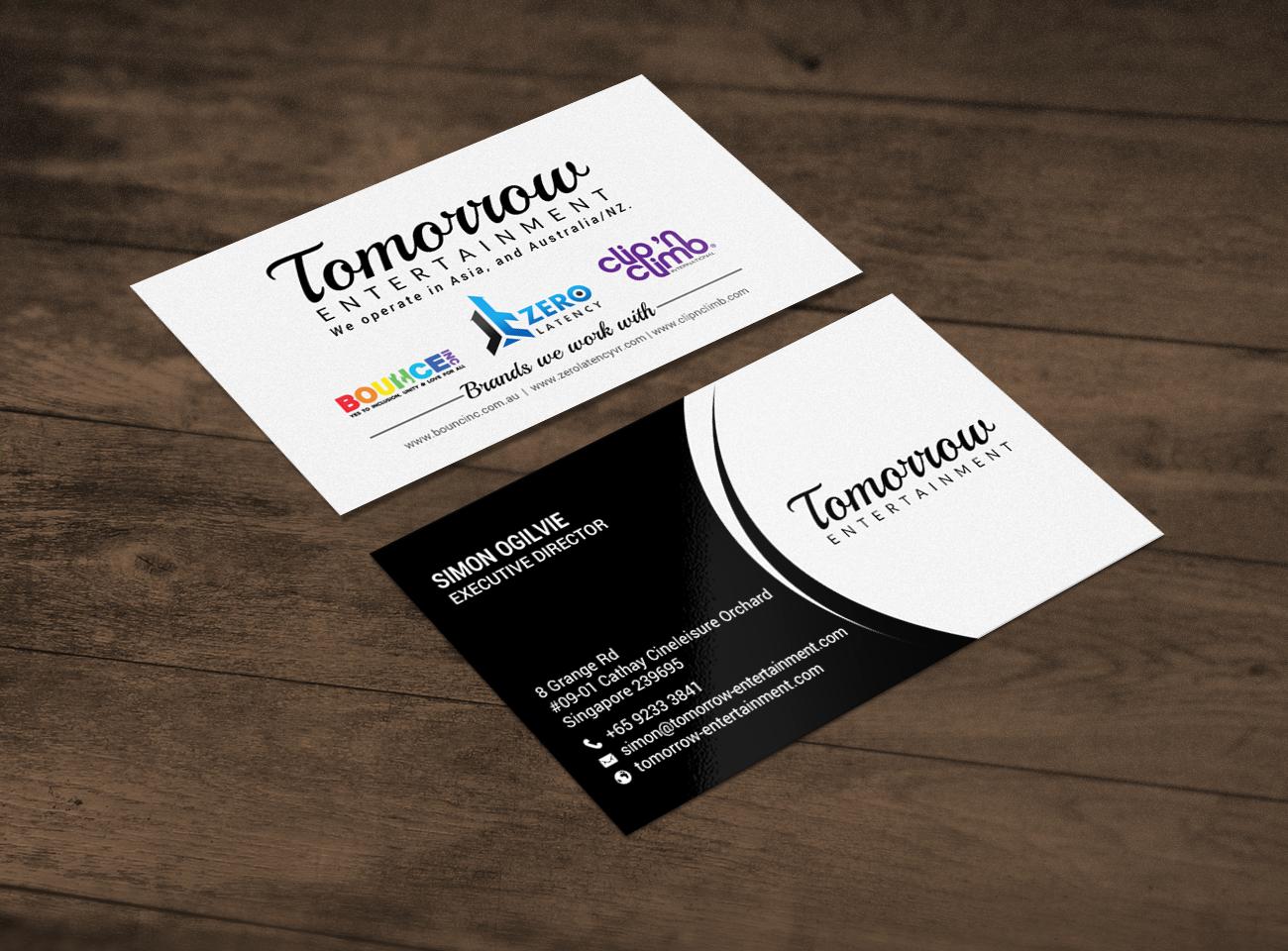 Design De Carte Visite Haut Gamme Professionnelle Business Pour A Company En Aux Singapore