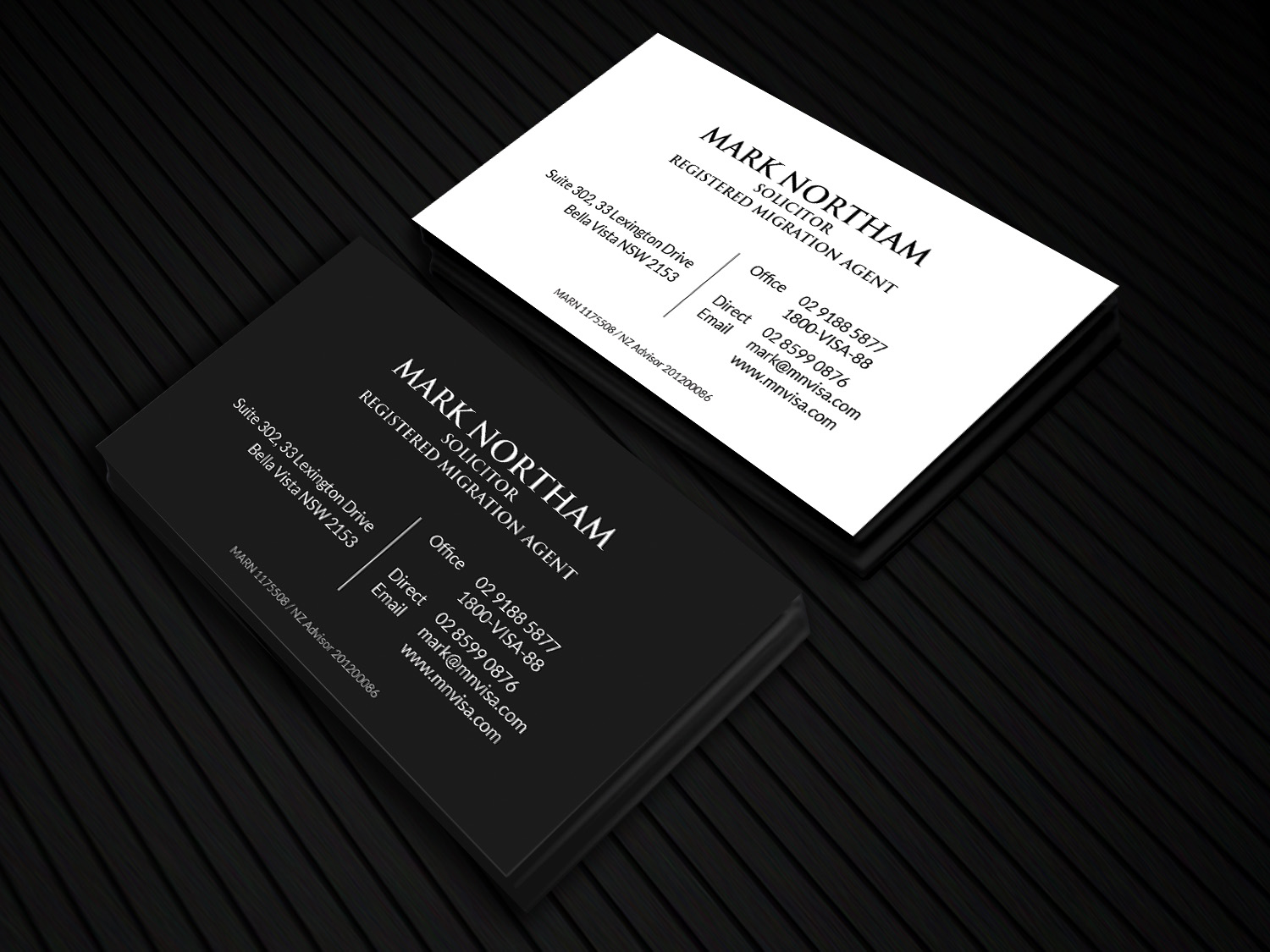 Professional, Playful Business Card Design for Northam & Associates ...