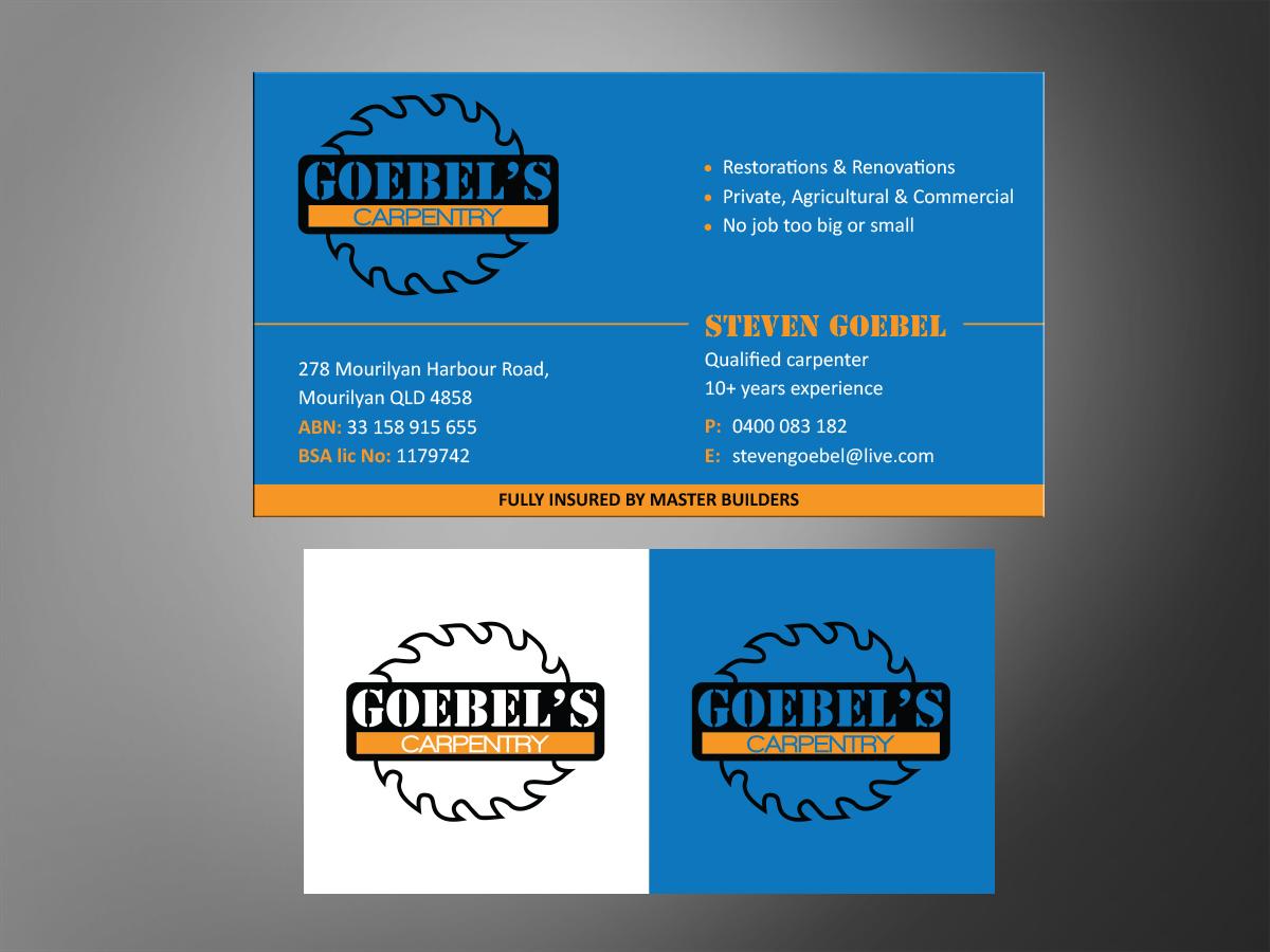 Business Card Design job  Business Card brief for Goebels