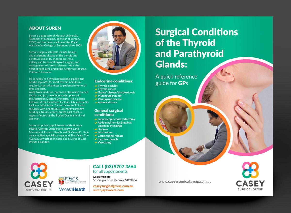 upmarket modern medical and science flyer design for casey