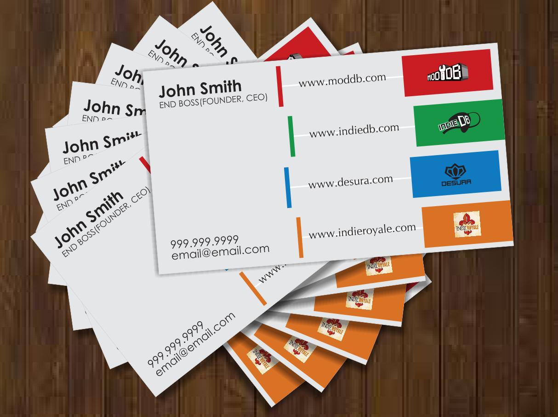 Playful modern business card design for david traeger by artleo business card design by artleo for business card for multiple gaming sites design 629689 magicingreecefo Images