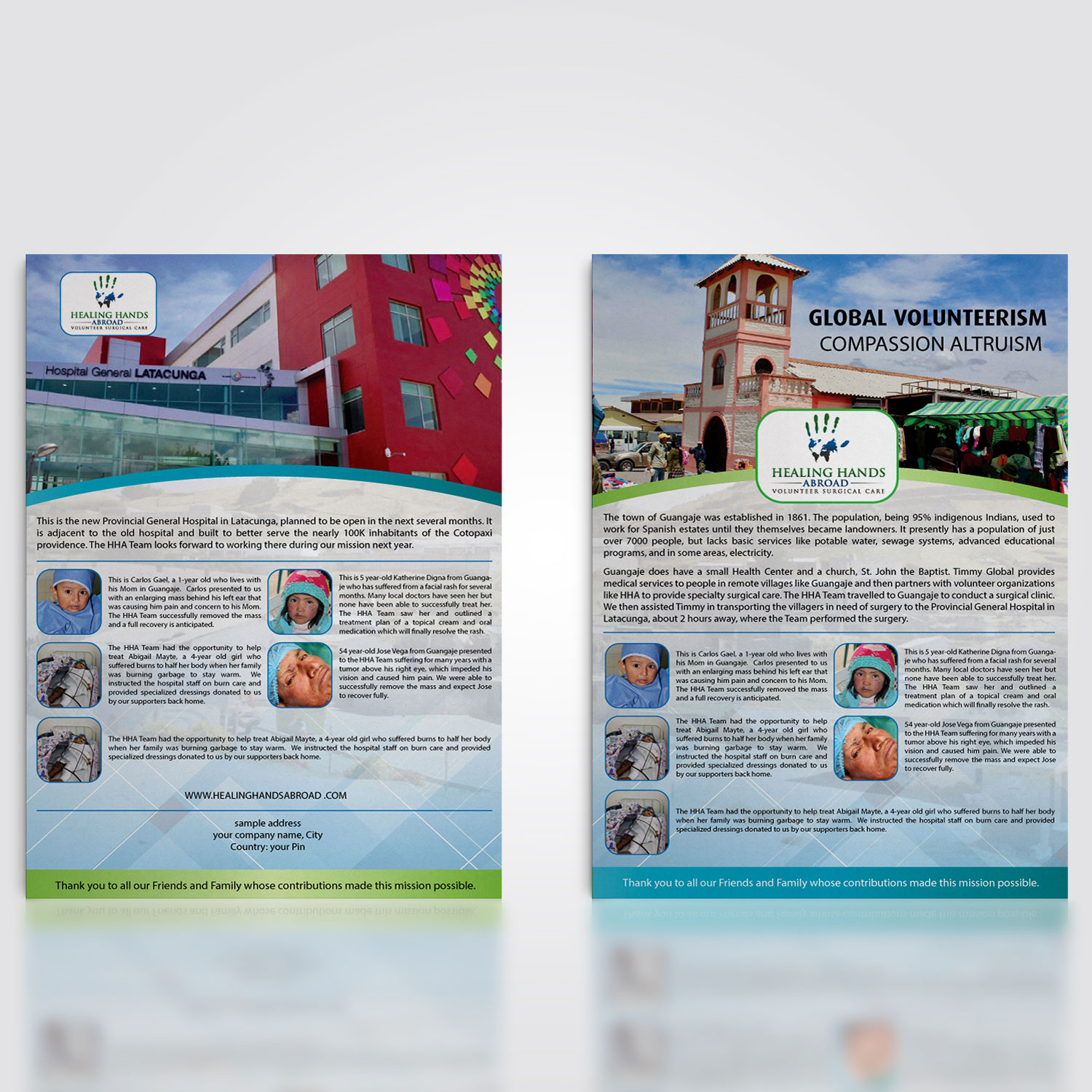 traditional professional non profit newsletter design for healing