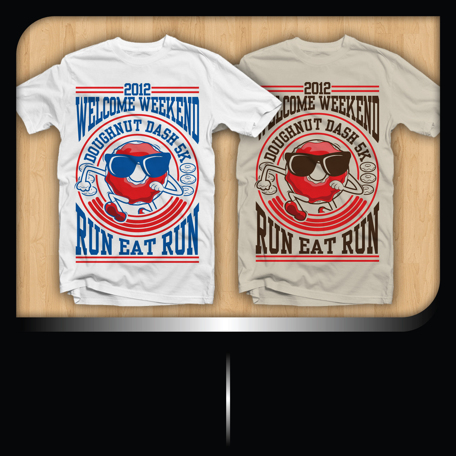 2012 Welcome Weekend Doughnut Dash 5k Fun Run T Shirt