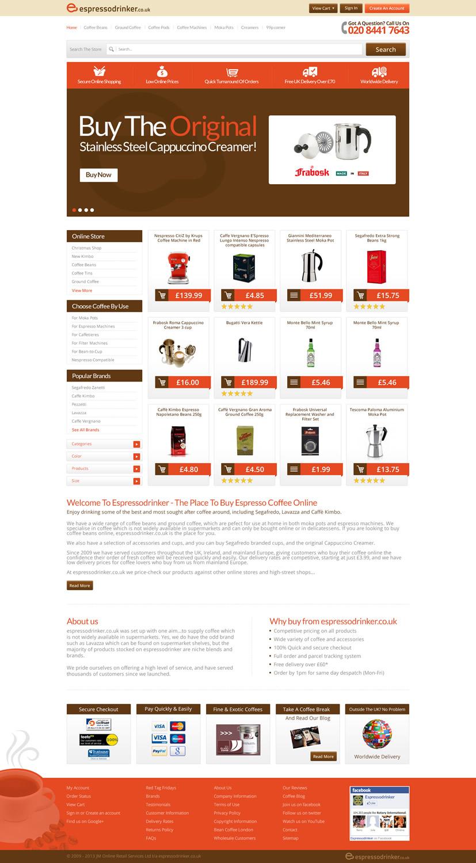 Modern masculine web design for jm online retail services for Masculine web design