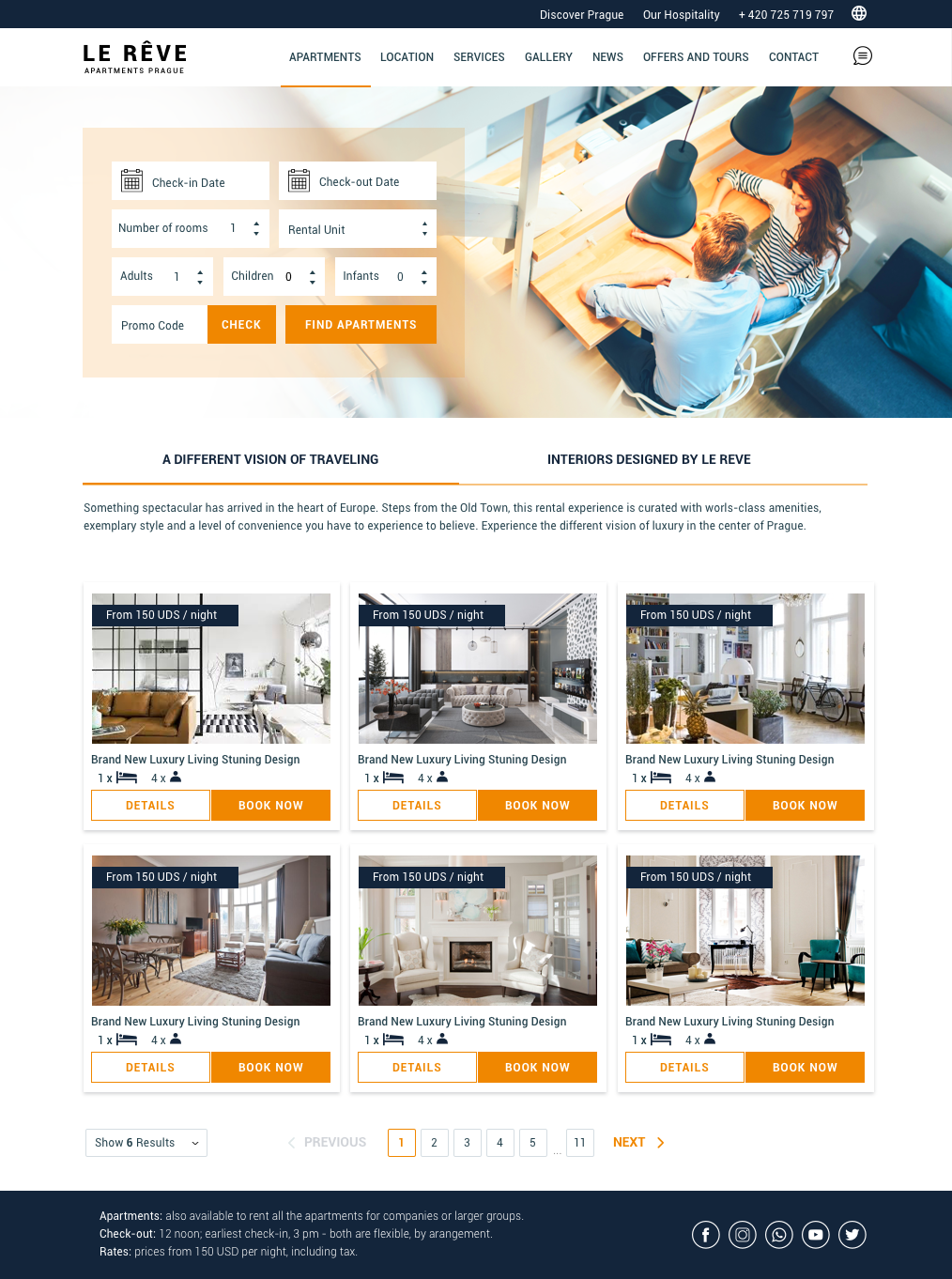 Apartment Web Design for a Company by Monimonzy  Design #26