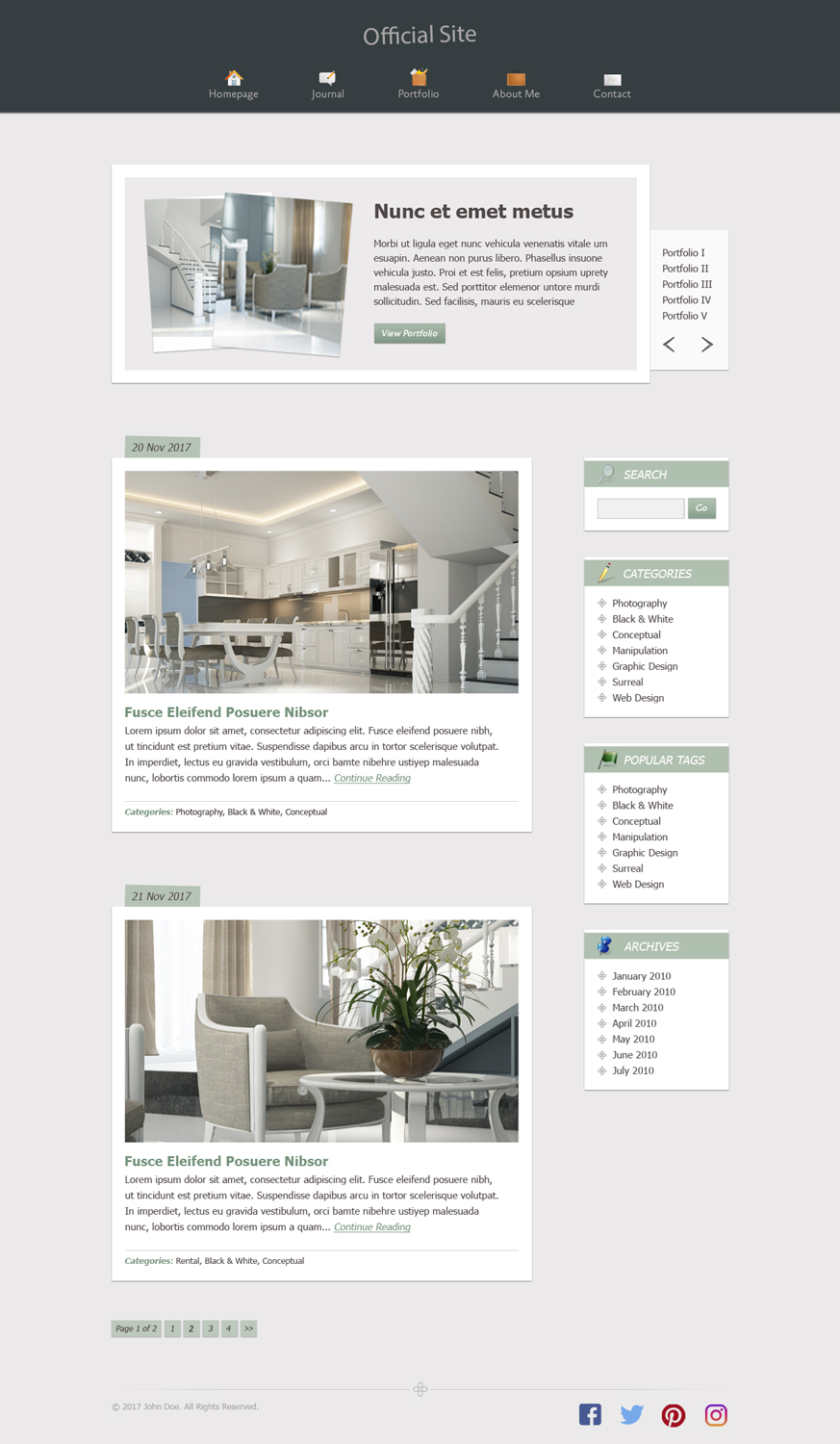 Apartment Web Design for a Company by diana popescu  Design #17