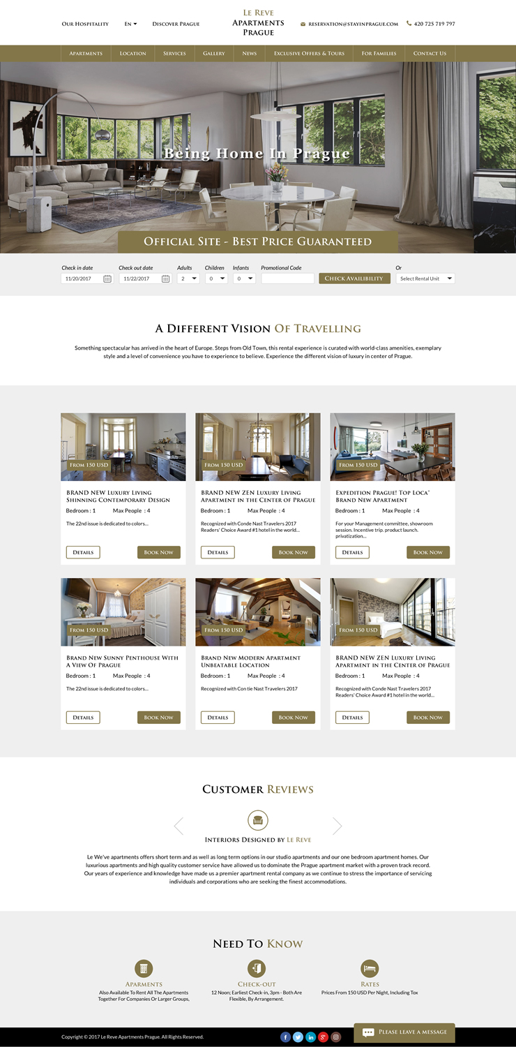 Apartment Web Design for a Company by Sbss  Design #26