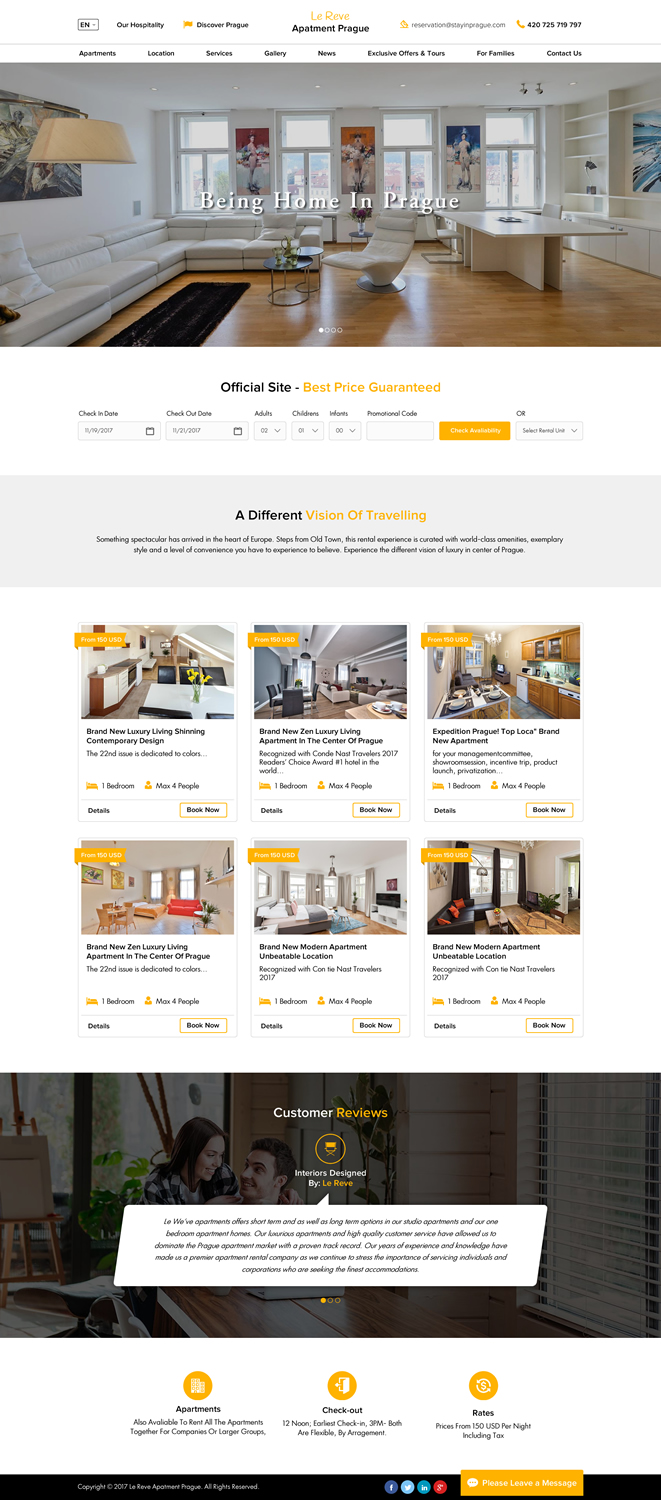 Apartment Web Design for a Company by Creative Design  Design