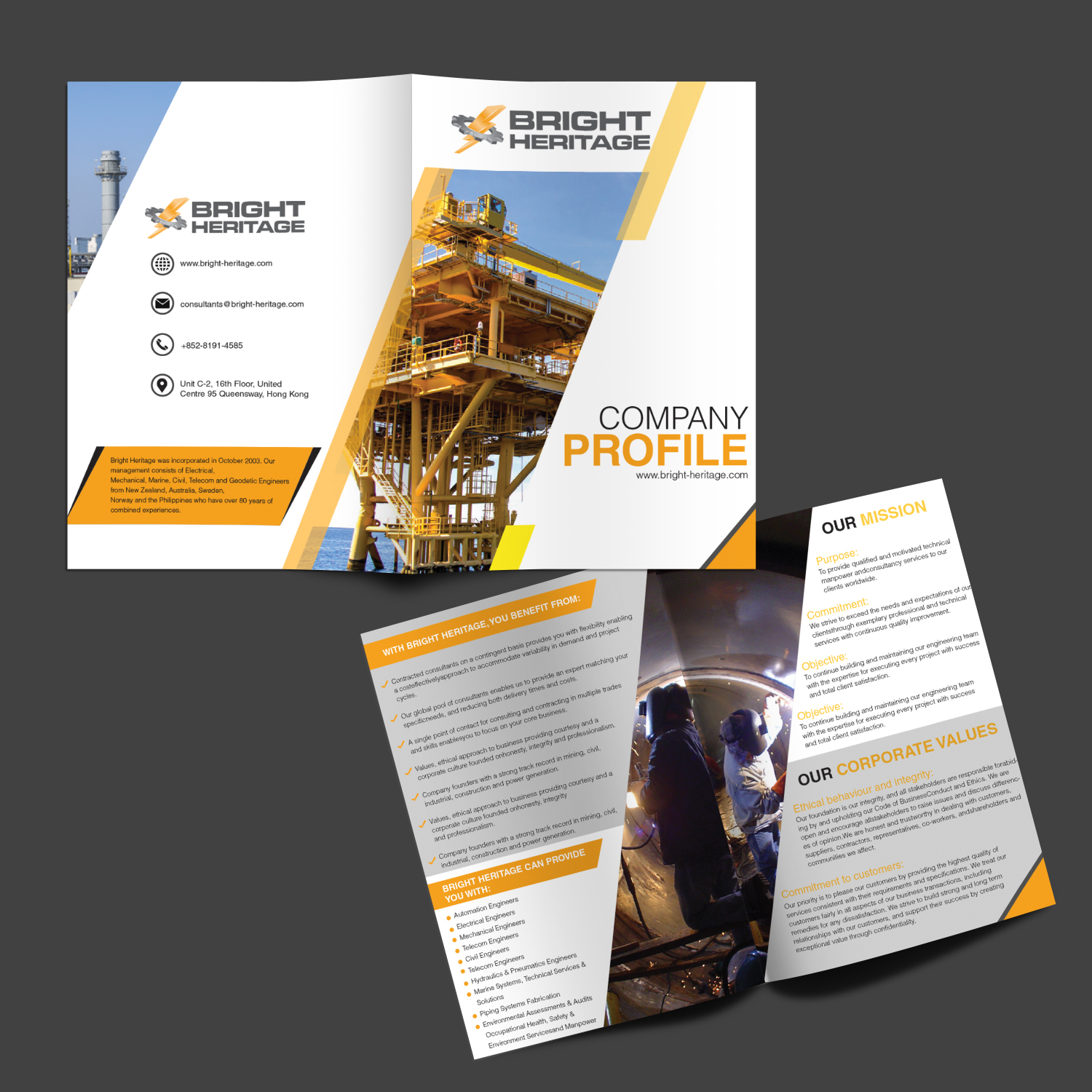 Serious, Modern, Engineering Consulting Flyer Design for a