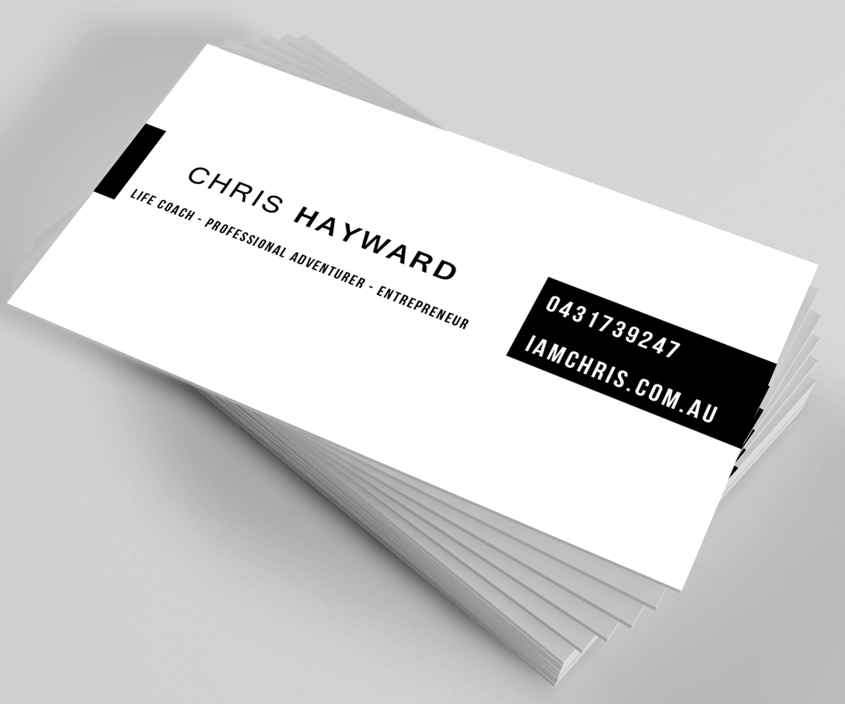 Elegant Spielerisch Life Coaching Visitenkarten Design Für
