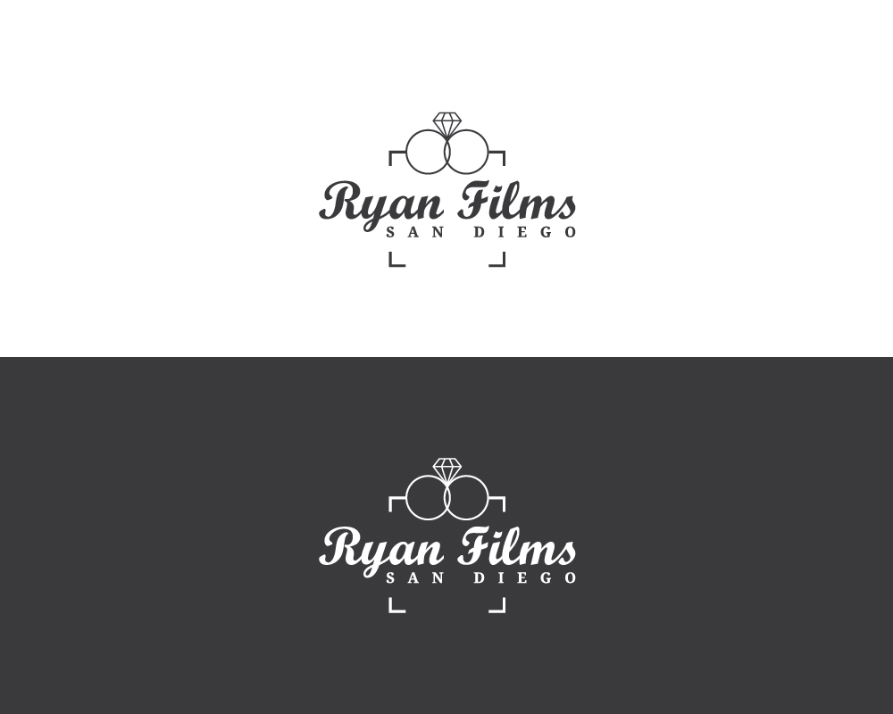 Professional Masculine Wedding Photography Logo Design For Ryan Films San Diego By Black Idea Design 17056362