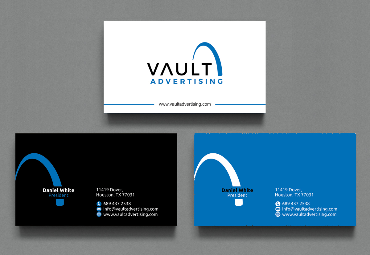 Elegant playful business card design for daniel white by business card design by alpesh9520 for new advertising company business card design 16920459 magicingreecefo Choice Image