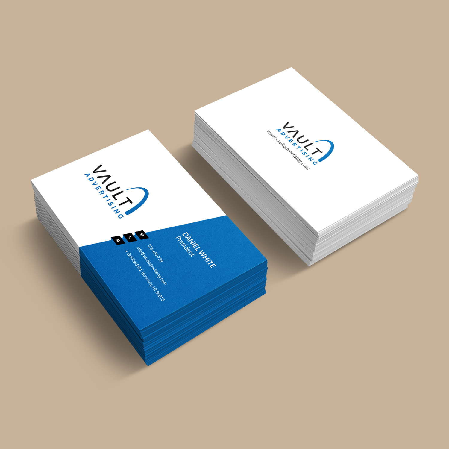 Elegant playful business business card design for a company by business card design by bdesigner9 for this project design 16912385 reheart Images