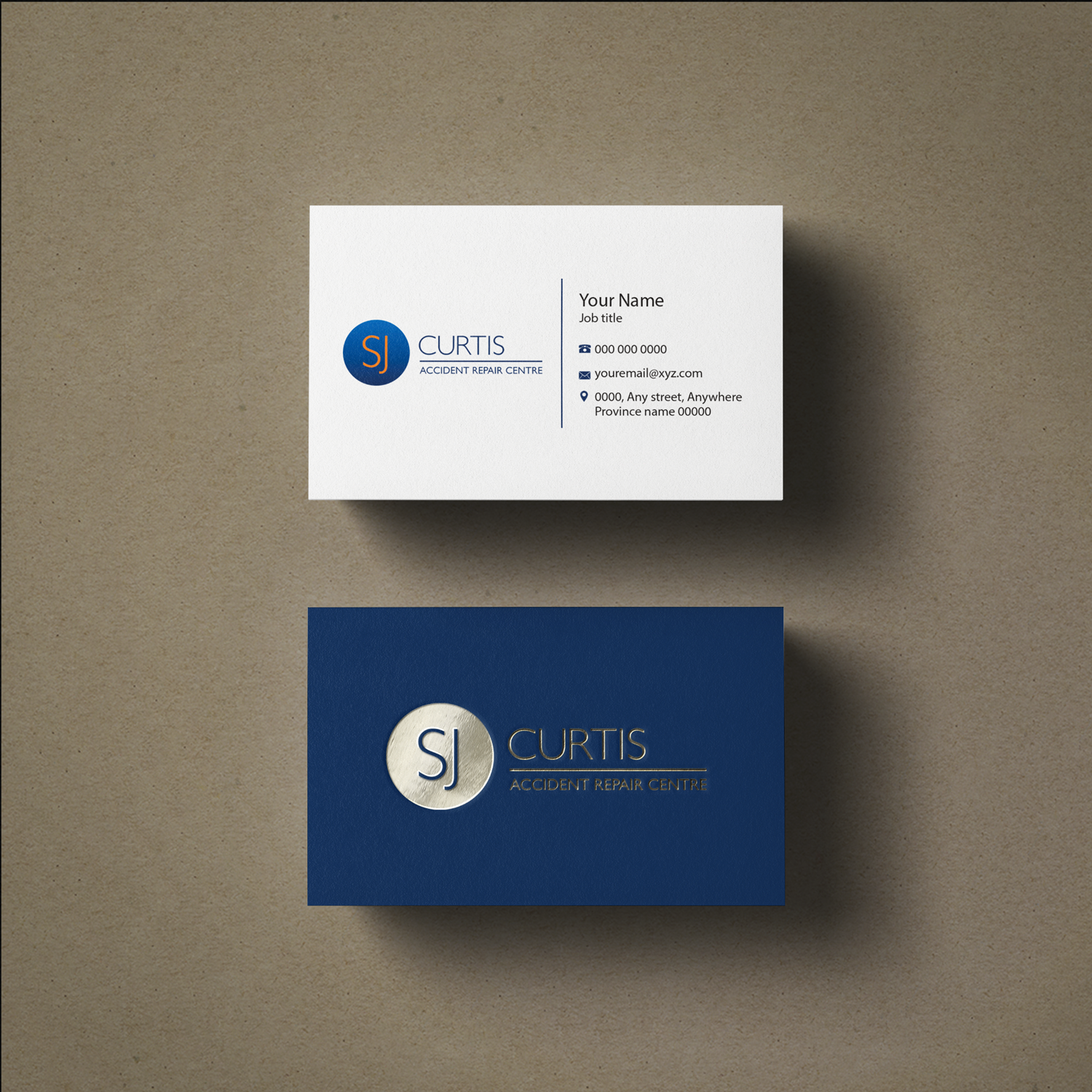 Upmarket, Serious Business Card Design for Richard Curtis by Riz ...