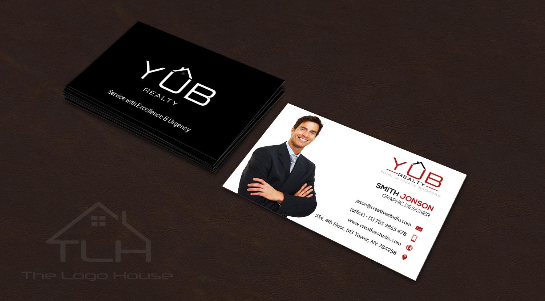 Upmarket, Elegant, Real Estate Agent Business Card Design for RED ...