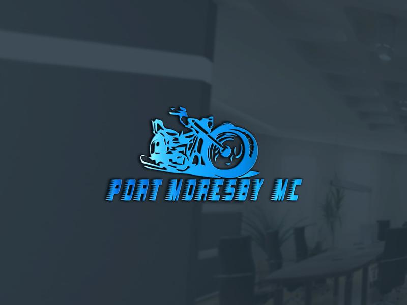 Bold, Masculine, Automotive Logo Design for Port Moresby MC