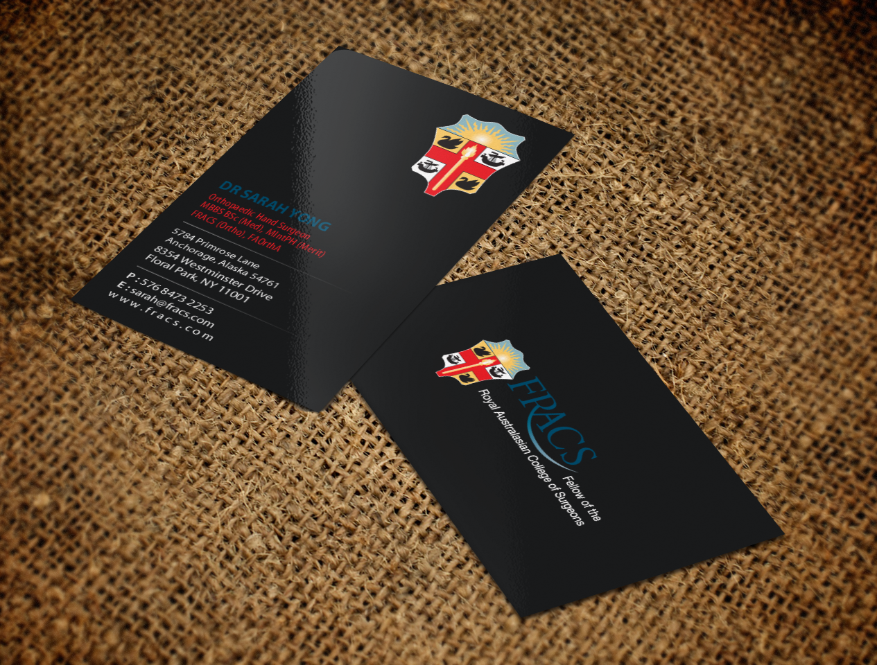 Serious, Elegant, Healthcare Business Card Design for a Company by ...