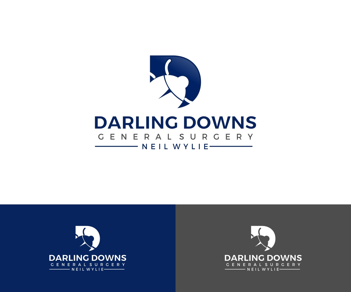 Serious Traditional Business Logo Design For Darling Downs General Surgery Neil Wylie By Liyana Design 16917140