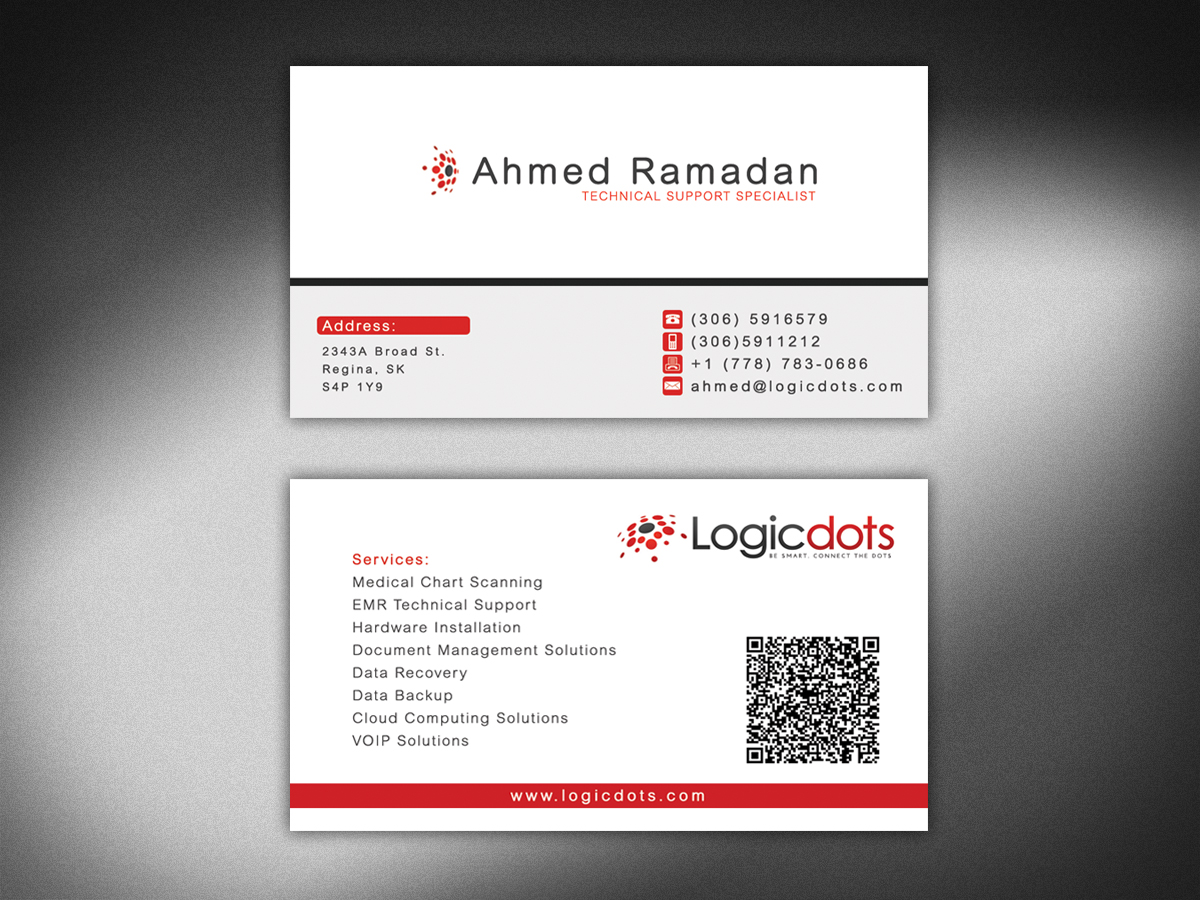 Printing business card design for logicdots solutions by business card design by futuredesigne for logicdots solutions design 2794829 reheart Image collections