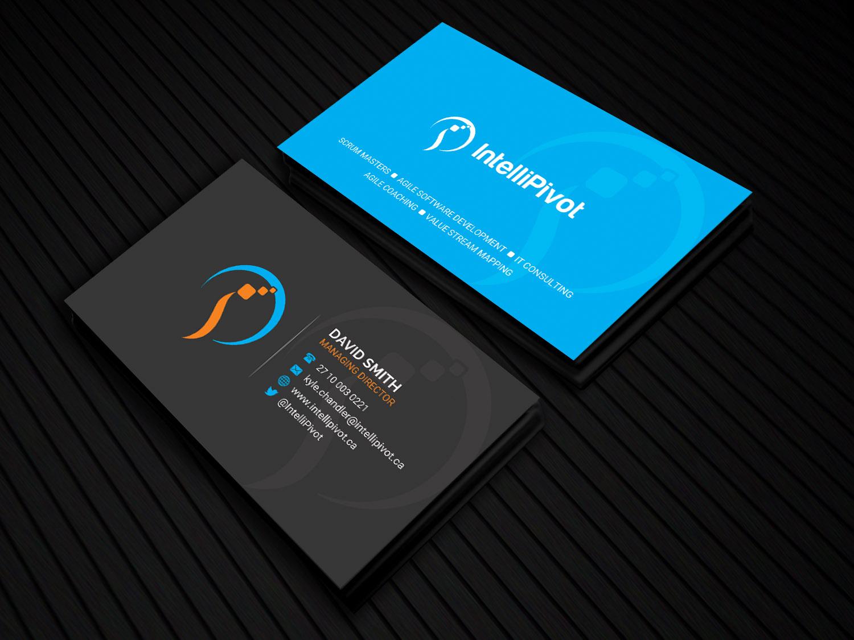 Intellipivot Business Card And Logo Design 28 Business Card Designs For Intellipivot