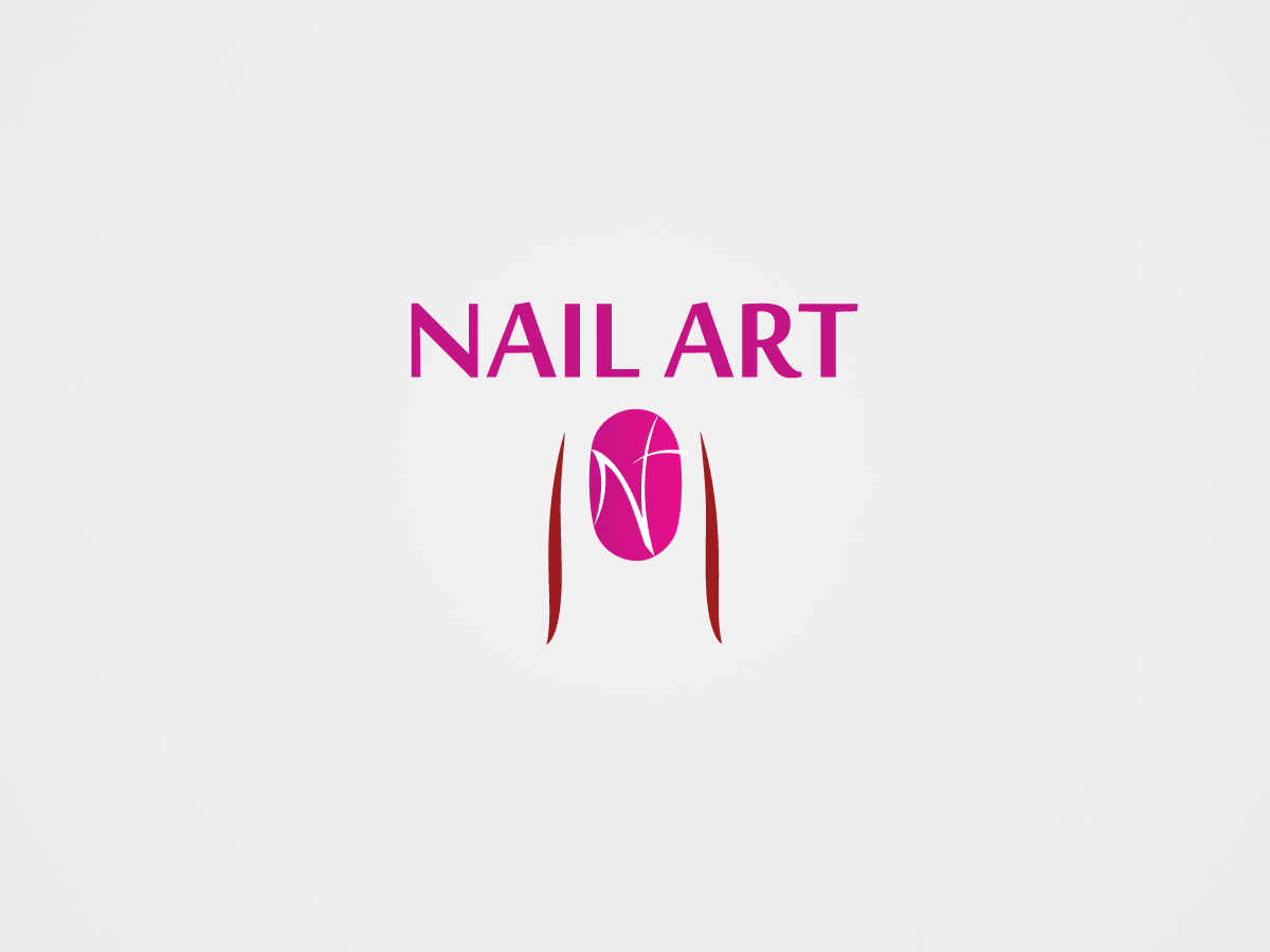 Feminine Bold Media Logo Design For Nail Art 101 By Kavish