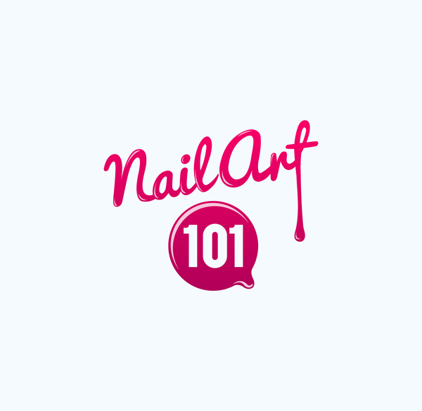 Feminine Bold Media Logo Design For Nail Art 101 By Elliatra