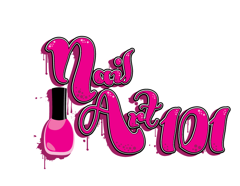 Feminine Bold Media Logo Design For Nail Art 101 By Jenny28