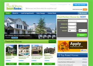Web Design job – SmartRenter - Apartment Reviews Website Concept Sketch – Winning design by stn50431