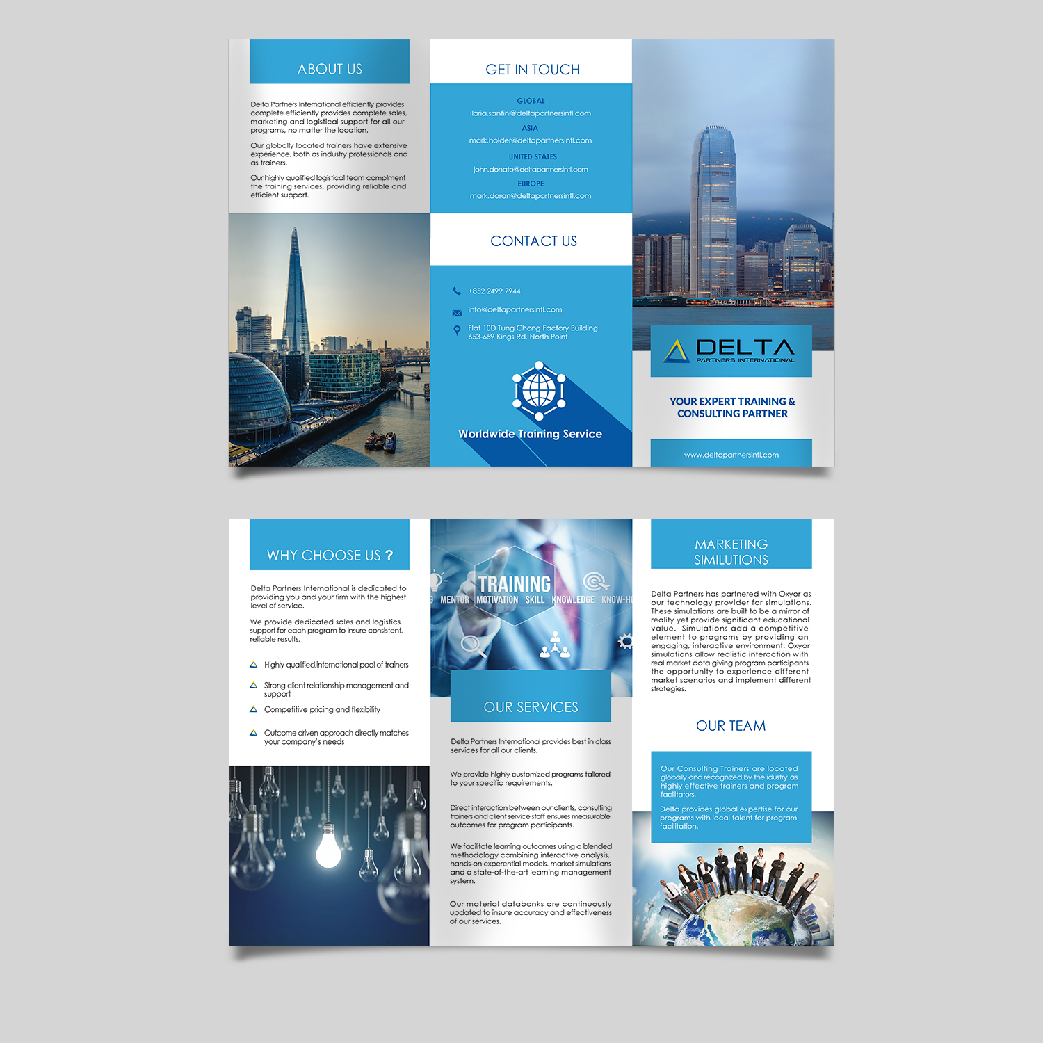 Serious, Professional, Investment Banking Brochure Design for Delta