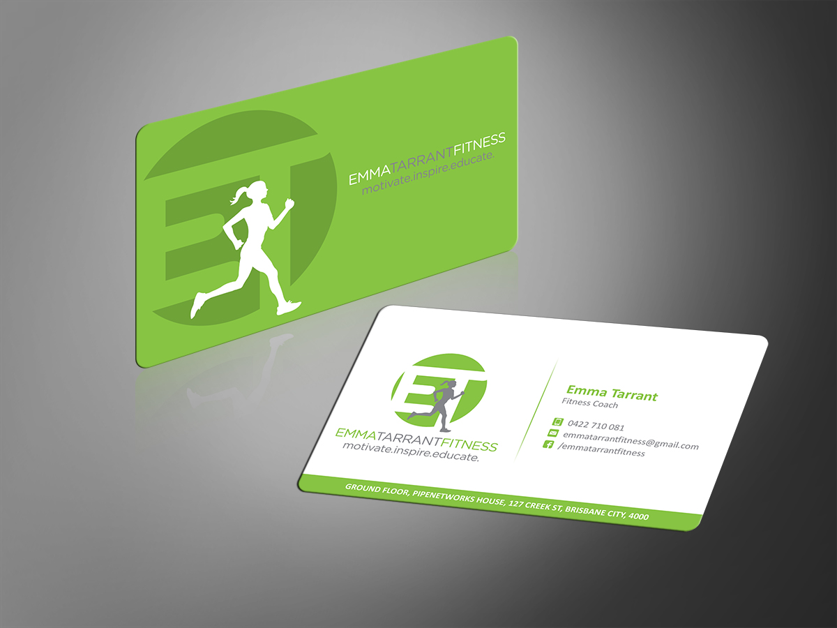 53 modern business card designs personal trainer business card business card design by mt for this project design 2687572 cheaphphosting Gallery
