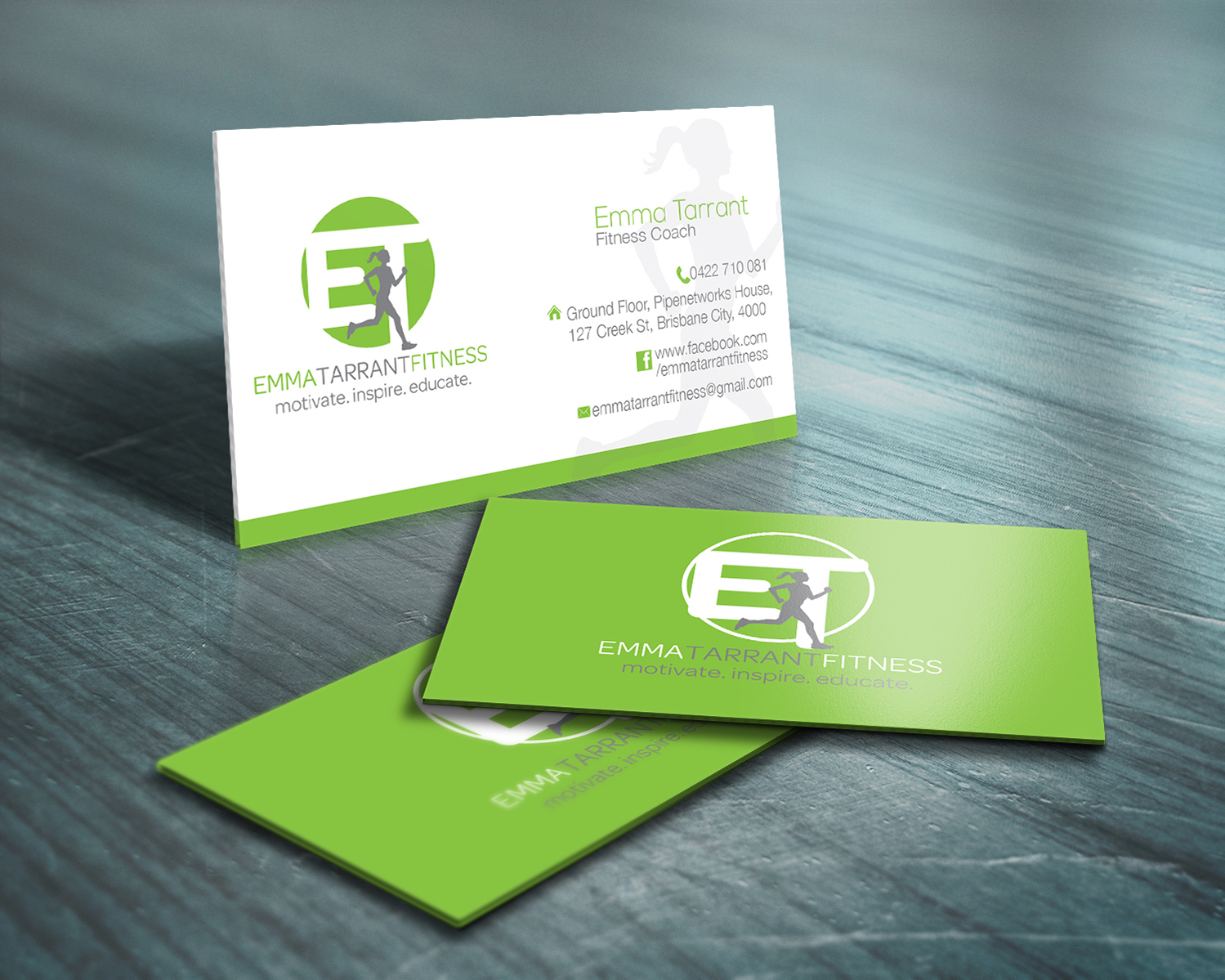 Modern playful personal trainer business card design for a company business card design by iglowcreationz for this project design 2713938 reheart Image collections