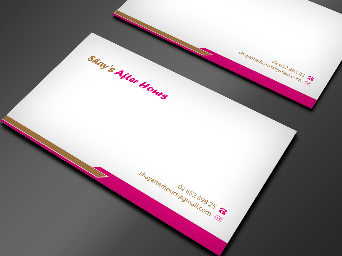 Feminine, Upmarket, Escort Business Card Design for a Company by ...