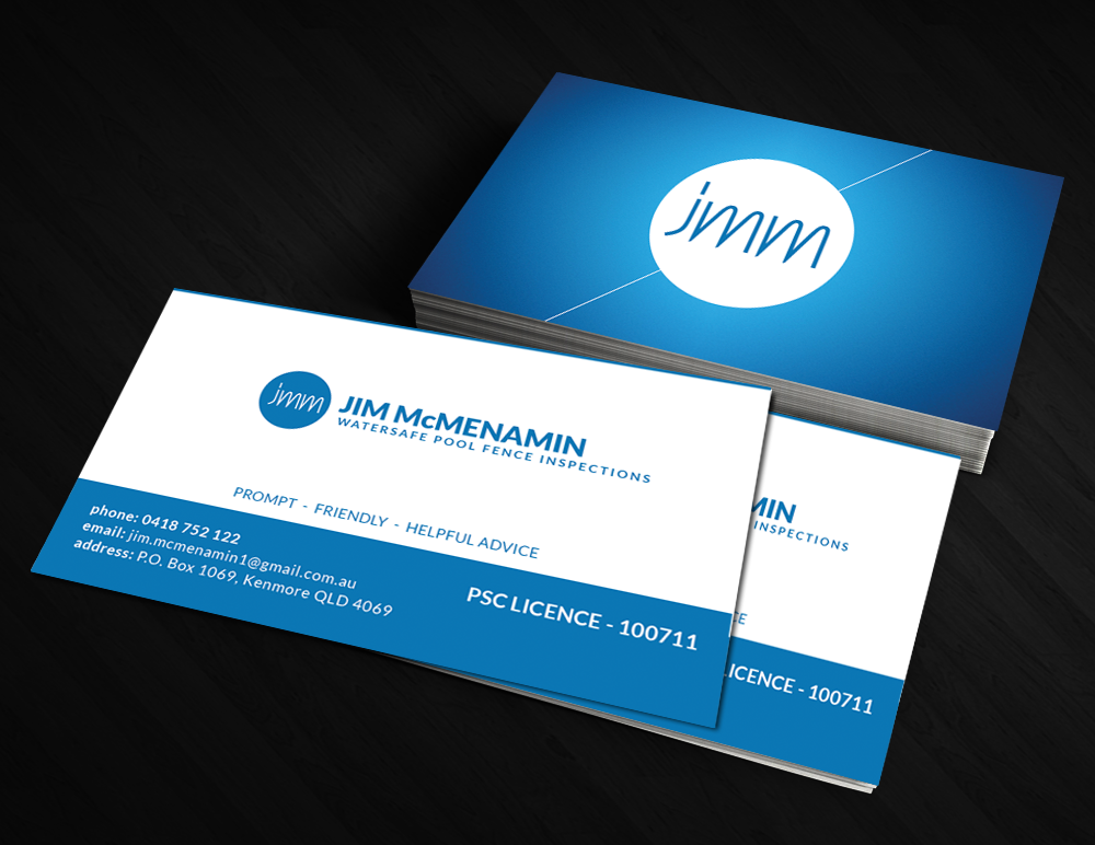 Professional Serious Fence Business Card Design For A Company By