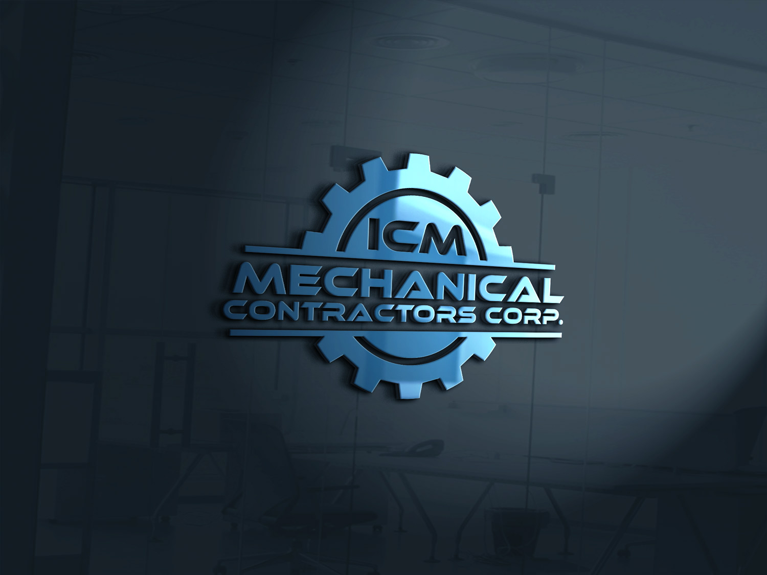 Masculine bold it company logo design for icm mechanical for Logo creation wizard