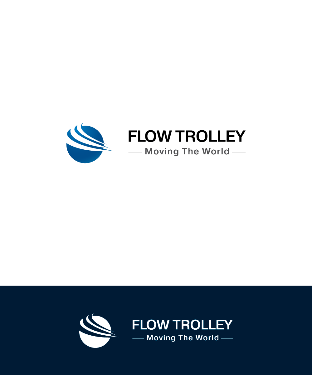 Bold modern hospitality logo design for flow trolley for Design consultancy internship
