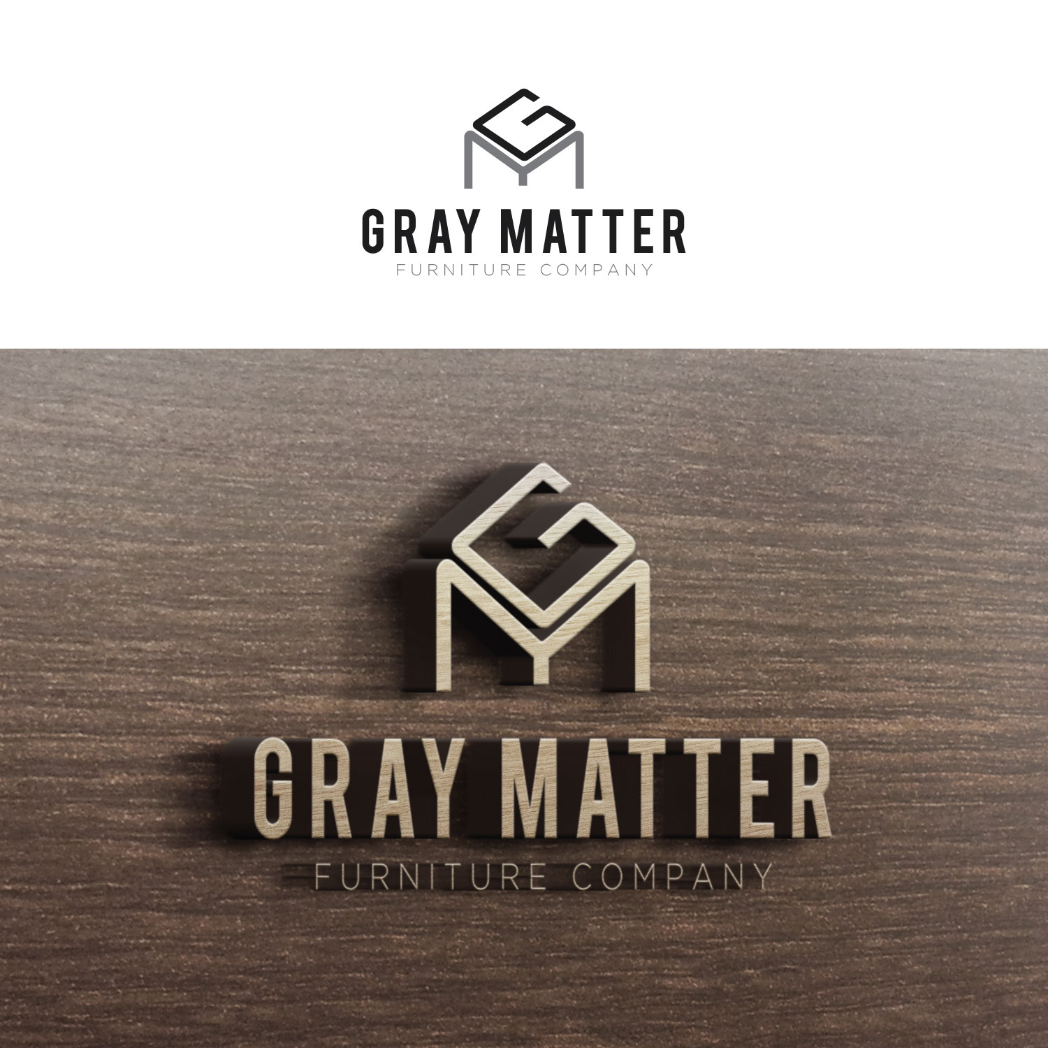 modern, serious, it company logo design for gray matter