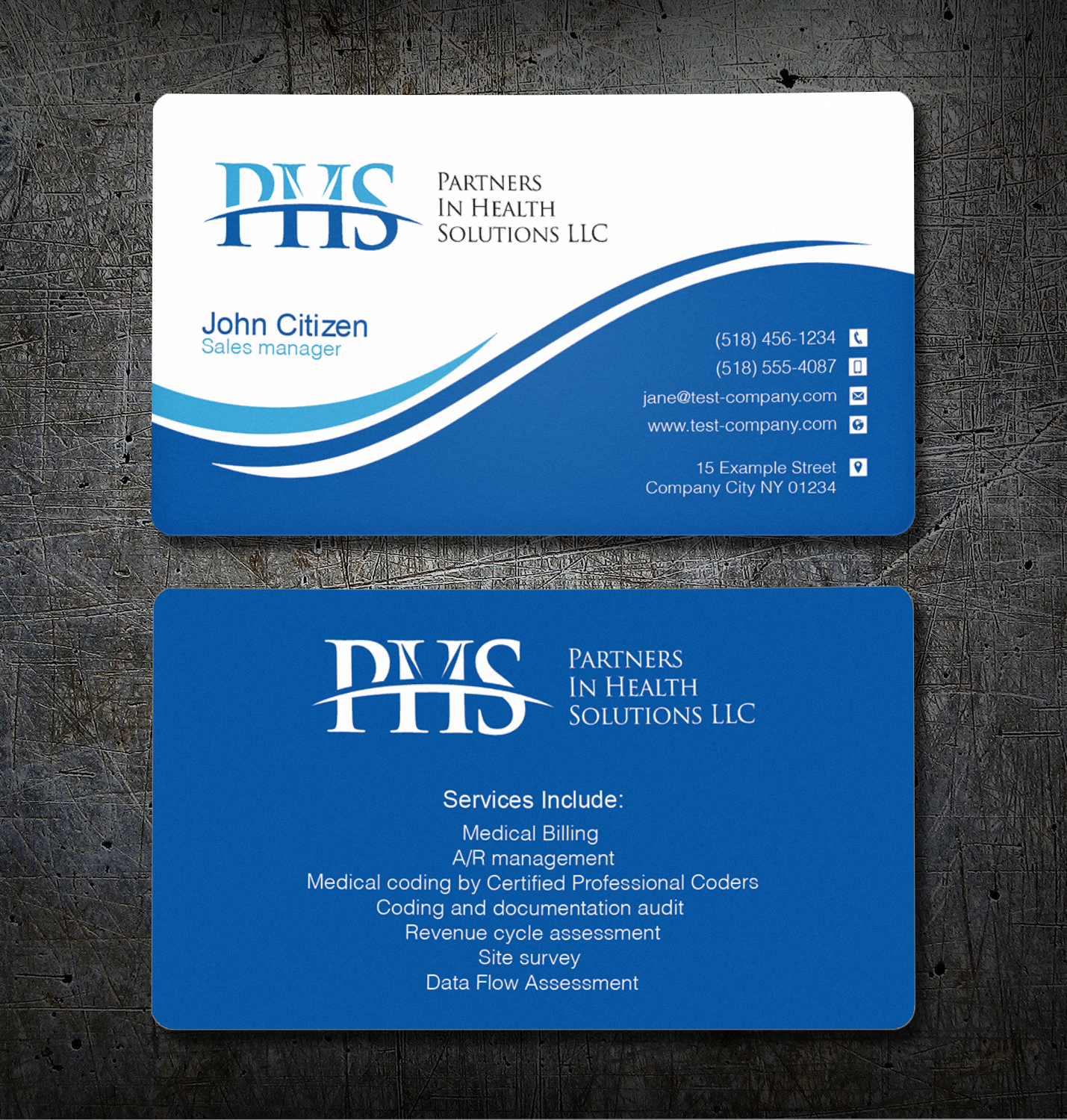 Business Card Design By Creation Lanka For Partners In Health Solutions LLC