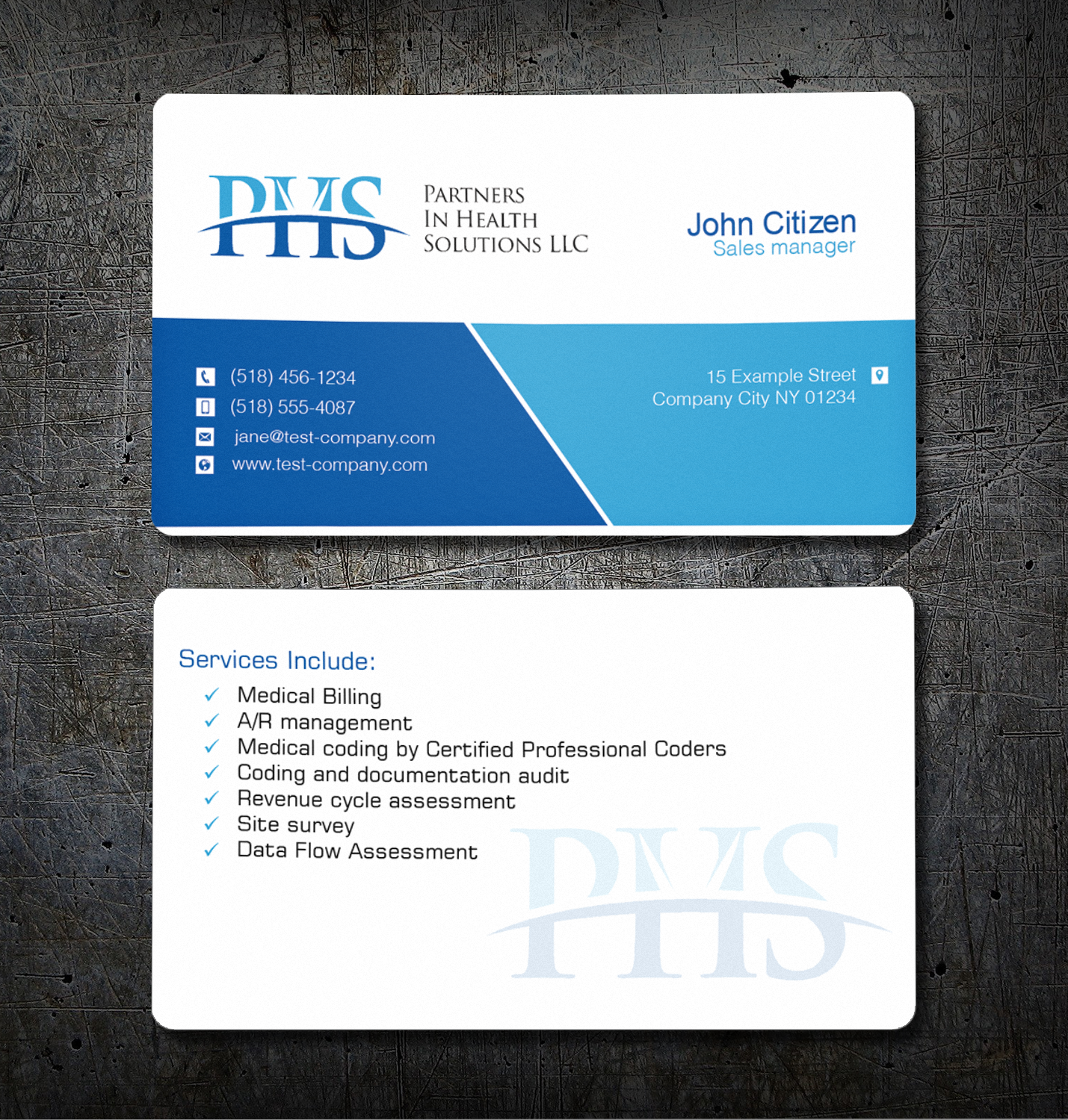 Serious, Professional Business Card Design for Partners In Health ...