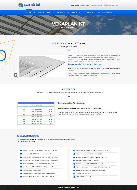 Distribution Web Design for MP Plastic Building Products Ltd