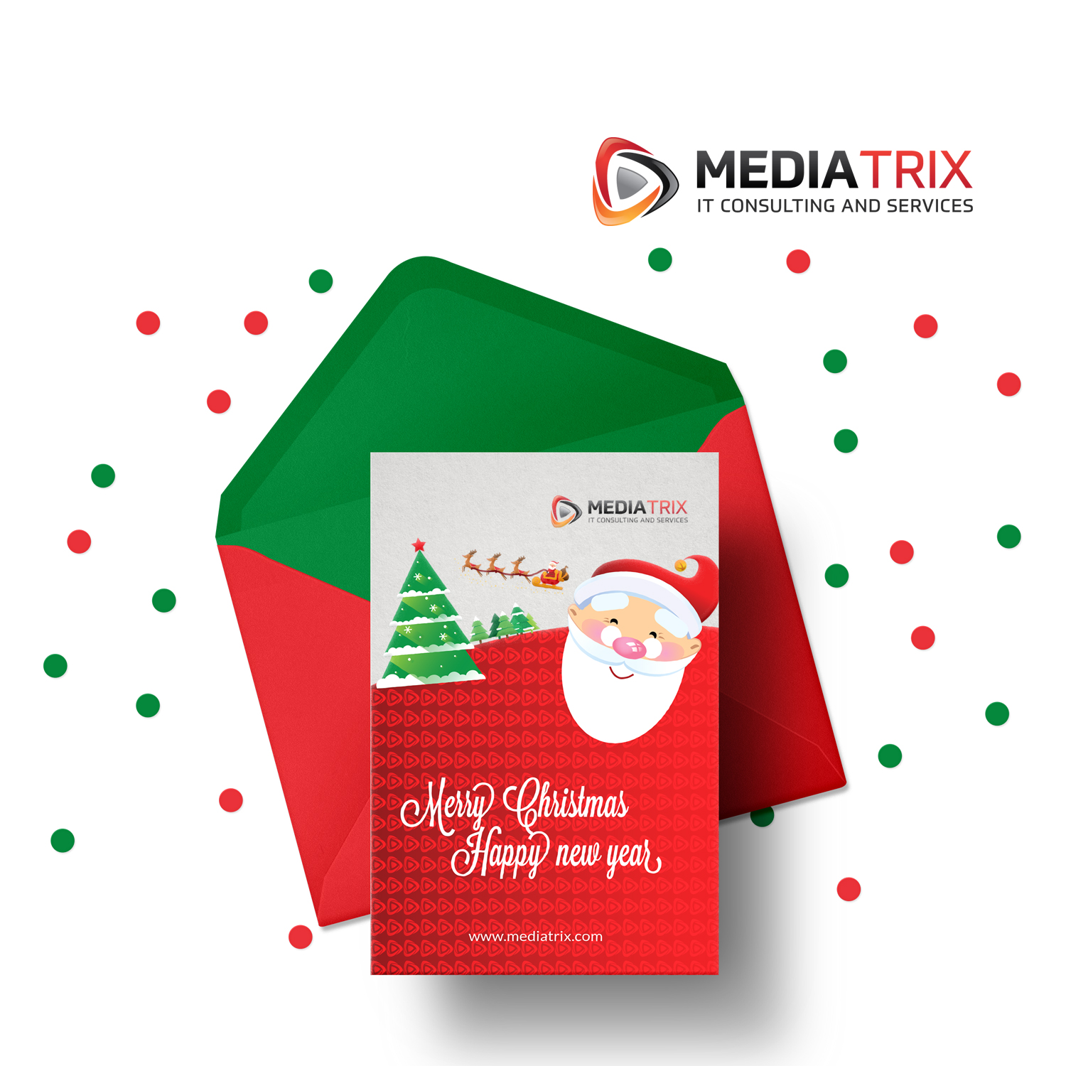 Serious Elegant It Company Greeting Card Design For Mediatrix By