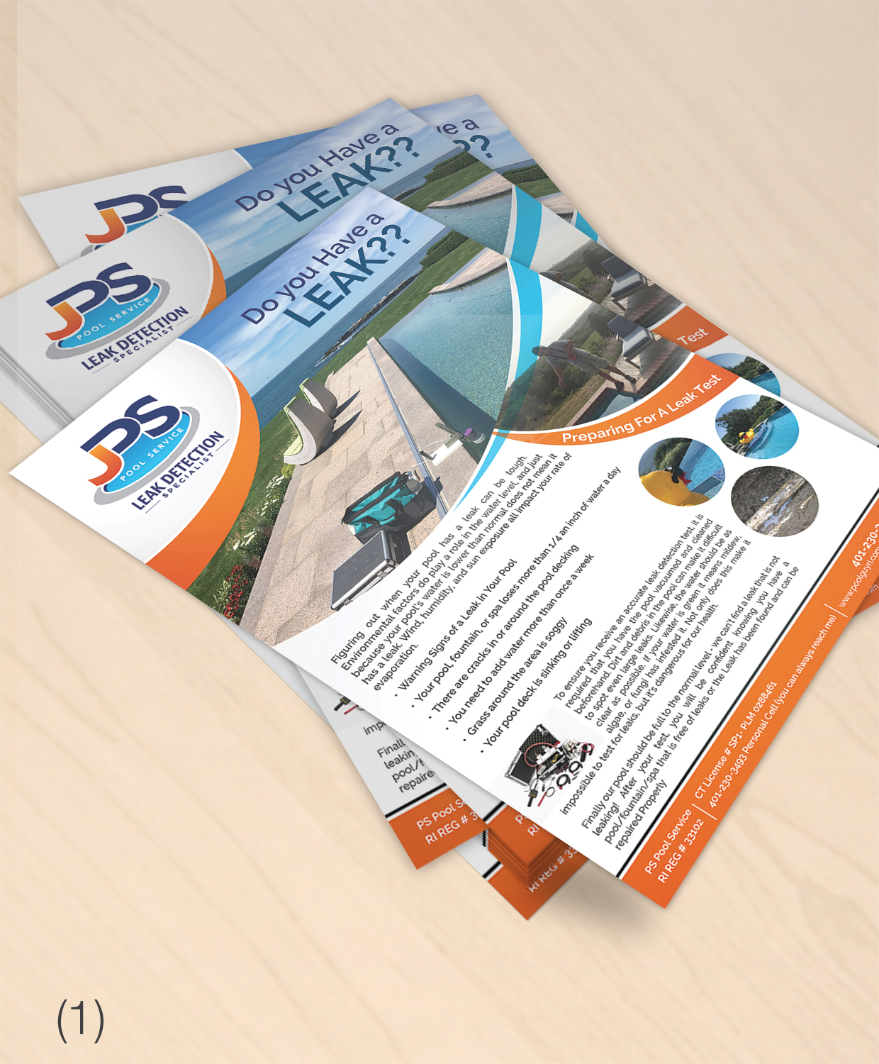 pool service ad. Brochure Design By Designanddevelopment For JPS POOL SERVICE    #17050062 Pool Service Ad